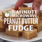 5 Minute Microwave Peanut Butter Fudge - YouTube