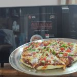 How to make pizza in LG Microwave oven with convection mode - YouTube