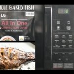 Whole baked fish in Microwave Oven Using LG Microwave Oven - YouTube