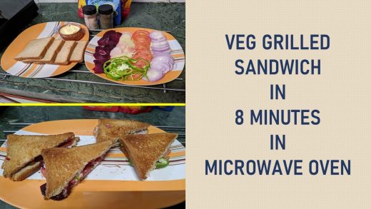 Veg Grilled Sandwich in 8 minutes | Autocook Menu | LG Microwave Oven -  YouTube