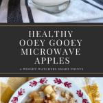 Healthy Ooey Gooey Microwave Apples -