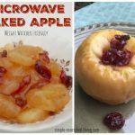 WW Microwave Baked Apple Dessert Recipe   Simple Nourished Living