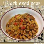 Black-eyed peas a microwave recipe