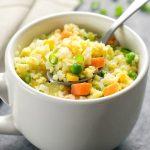 How to Make Cauliflower Fried Rice in the Microwave - Kirbie's Cravings