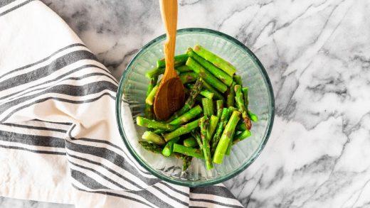 Seasoned Microwaved Fresh Asparagus Recipe