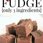 Best Microwave Fudge Recipe - Easy 3 Ingredient Fudge