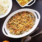 Microwave green bean casserole (The tastiest version!)