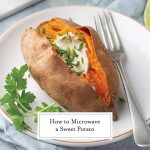 How to Microwave a Sweet Potato   Baked Sweet Potatoes in a Jiffy!