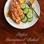 perfect microwaved 'baked' sweet potato | Sweet Anna's