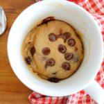 Microwave Chocolate Chip Mug Cookies - Picklebums