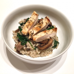 Mushroom and Spinach Risotto with Chicken – post grad meals