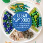Ocean Playdough - Free Printable Accessories - Picklebums