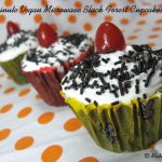 One-minute Vegan Microwave Black Forest Cupcakes  