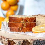 Easy and moist yogurt orange loaf cake - Panos Eats