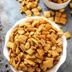 Easy Microwave Pay Day Chex-Mix - Layers of Happiness