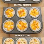 Easy Peach Cobbler Muffins - Cakescottage