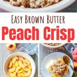 Peach Crisp with Brown Butter Streusel | Tangled with Taste