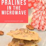 Microwave Pecan Pralines - an easy gift! | Just Microwave It