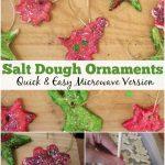 How to make Microwave Salt Dough Christmas Ornaments