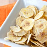 Fat Free (or low fat) Microwaved Plantain Chips | Fruit of Adventure