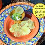 Secret Recipe Club, No Guilt Microwave Potato Chips   The Painted Apron