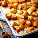 roasted butternut squash with smoked paprika and turmeric - Healthy  Seasonal Recipes