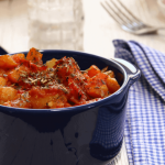 Delicious Roasted Potatoes in Tomato Sauce | The Smashed Potato
