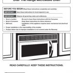 Samsung 2.0 cu. ft. Over The Range Microwave with Sensor Cooking -  ME20H705MSS/AA - Installation Guide ver.