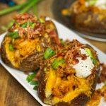 Shrimp Stuffed Baked Potato -
