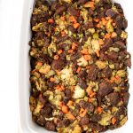 Easy Vegan Stuffing - NOT dry and full of cozy flavor!