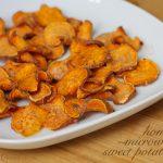 easy, homemade microwave sweet potato chips   Sweet Anna's
