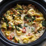 Sausage Tortellini Soup - I Am Homesteader