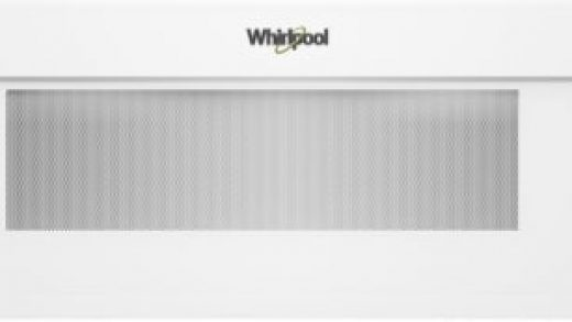 Whirlpool WML75011HW 1.1 cu. ft. Over-the-Range Low Profile Microwave with  CleanRelease® Non-Stick Interior, 400 CFM Venting System, Sensor Cooking,  Tap-to-Open Door, Popcorn Preset, 90° Hinge Door, Turntable On/Off Option,  Microwave Presets, Add