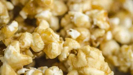 Curry Caramel Popcorn with Cashews and Coconut