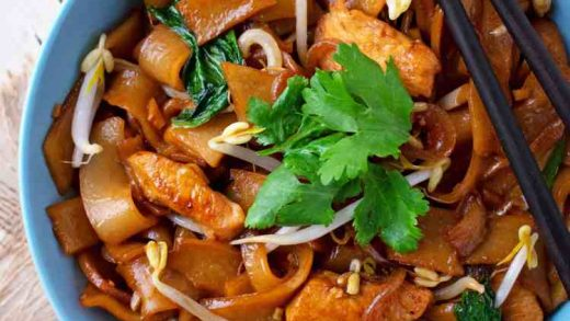 Chicken and Rice Noodle Stir Fry - Scruff & Steph