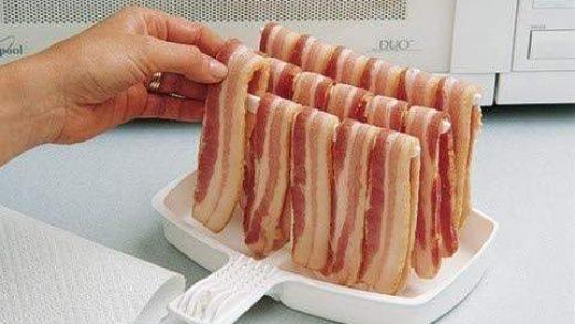 Other Kitchen Tools & Gadgets Microwave Bacon Rack Hanger Cooker Tray Cook  Crisp Food Preparation Esdtu Plsei Home & Garden