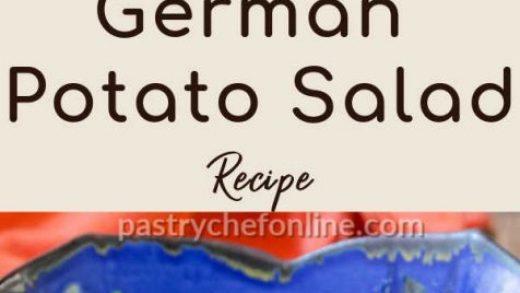 Easy German Potato Salad Recipe   Pastry Chef Online