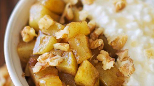 Easy Microwave Apple Crisp   Kitchen Frau