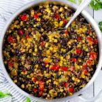 One-Pot Black Beans and Quinoa (vegan, gluten-free) - Bowl of Delicious