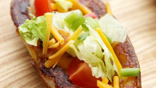 BLT Potato Skins with Spicy Ranch Dressing