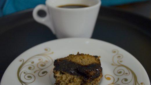 brownie with coffee chocolate sauce   foodiliciousnan