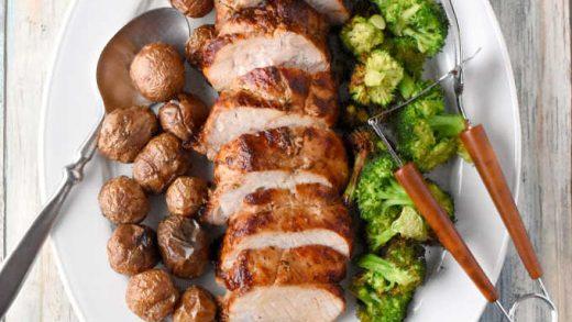 Garlic & Herb Rotisserie Pork Dinner – A Kitchen Hoor's Adventures