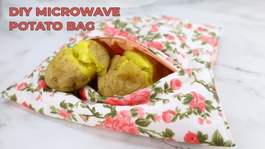 Easy Microwave Potato Bag Instructions - Perfect Baked Potatoes In Minutes  ⋆ Hello Sewing