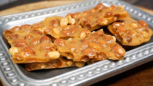 Microwave Buttery Peanut Brittle | Grace Like Rain Blog