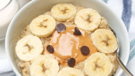 3-Minute Peanut Butter Egg White Oatmeal - Healthy Liv