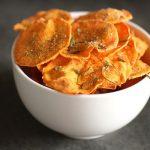 Microwave Sweet Potato Chips - The Bitten Word