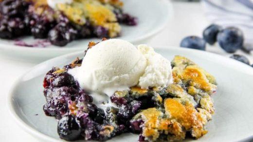 Blueberry Crisp in the Air Fryer - Just An AirFryer