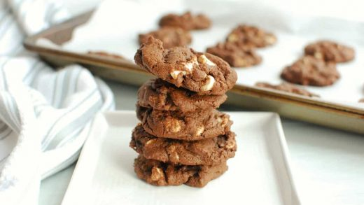 Dairy Free Chocolate Cookies with White Chocolate Chips
