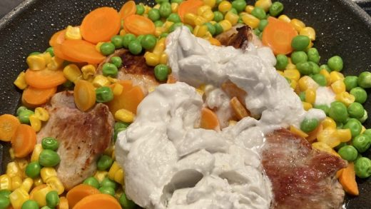 Pork chops with vegetable in coconut sauce – KatYoga
