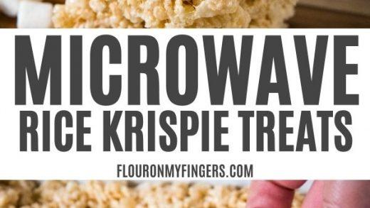 Microwave Rice Krispie Treats in 5 Minutes | Flour on My Fingers